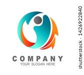human logo with circle vector ... | Shutterstock .eps vector #1426922840
