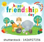 happy friendship day greeting... | Shutterstock .eps vector #1426927256