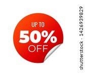 red vector banner sticker on... | Shutterstock .eps vector #1426939829