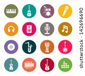 music icons | Shutterstock .eps vector #142696690