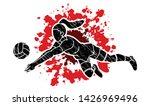 volleyball sport action cartoon ... | Shutterstock .eps vector #1426969496
