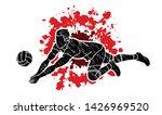 volleyball sport action cartoon ... | Shutterstock .eps vector #1426969520