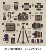 photographer kit camera... | Shutterstock .eps vector #142697539