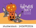 happy halloween party greeting... | Shutterstock .eps vector #1426992026