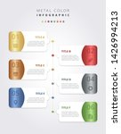 metal color infographic vector...