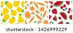 fruits and vegetables seamless... | Shutterstock .eps vector #1426999229