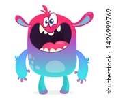 yelling cartoon monster.... | Shutterstock . vector #1426999769