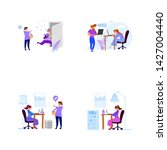 a set of business scenes with... | Shutterstock .eps vector #1427004440