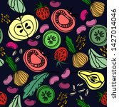 hand drawn seamless pattern... | Shutterstock .eps vector #1427014046