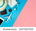 travel accessories objects and...   Shutterstock . vector #1427014703