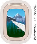 aairplane window vector... | Shutterstock .eps vector #1427029430
