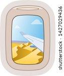 aairplane window vector... | Shutterstock .eps vector #1427029436