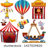 set of circus object...   Shutterstock .eps vector #1427029820