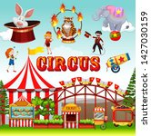 funfair object and background...   Shutterstock .eps vector #1427030159