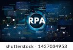 robotic process automatisation  ... | Shutterstock .eps vector #1427034953