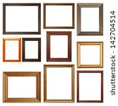 collection of picture frames on ... | Shutterstock . vector #142704514