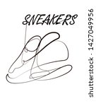 sports sneakers line icon.... | Shutterstock .eps vector #1427049956