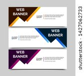 abstract vector banner.modern... | Shutterstock .eps vector #1427062733
