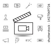 frame movie  clapperboard icon. ...