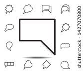 bubble  chat icon. simple thin...