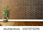black brown brick walls with... | Shutterstock . vector #1427073290