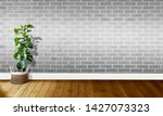 white gray brick walls with...   Shutterstock . vector #1427073323