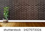 black brown brick walls with...   Shutterstock . vector #1427073326