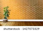 golden yellow brick walls with...   Shutterstock . vector #1427073329
