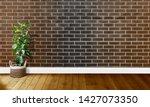 black brown brick walls with...   Shutterstock . vector #1427073350