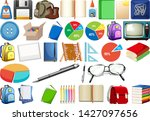 set of stationery object...   Shutterstock .eps vector #1427097656