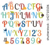 Cute Boy Themed Alphabet Vecto...