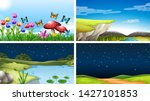 set of nature landscape... | Shutterstock .eps vector #1427101853