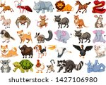 set of different animal... | Shutterstock .eps vector #1427106980