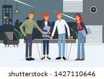 business people teamwork office ... | Shutterstock .eps vector #1427110646