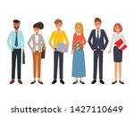 business people teamwork office ... | Shutterstock .eps vector #1427110649