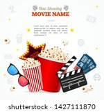realistic 3d detailed cinema... | Shutterstock .eps vector #1427111870