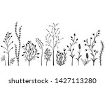 set of wild plants  black and... | Shutterstock . vector #1427113280