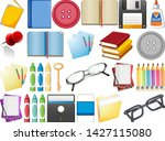 set of stationary object...   Shutterstock .eps vector #1427115080