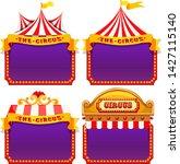set of circus banner... | Shutterstock .eps vector #1427115140