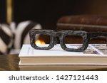 a closeup of an sunglasses...   Shutterstock . vector #1427121443