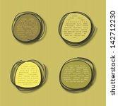 doodle banner. vector eps10 | Shutterstock .eps vector #142712230