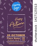 happy autumn sale a4 size flyer ... | Shutterstock .eps vector #1427125313