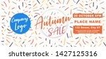 autumn sale cover size flyer... | Shutterstock .eps vector #1427125316