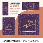 happy autum flyer dl a4 cover... | Shutterstock .eps vector #1427125343