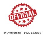 official rubber stamp. red... | Shutterstock .eps vector #1427132093