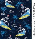 the surfer skeleton... | Shutterstock .eps vector #1427134976