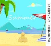 summer beach background  day... | Shutterstock .eps vector #1427138519