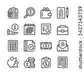 accounting line icons set.... | Shutterstock .eps vector #1427143739