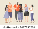 a group of young people...   Shutterstock .eps vector #1427153996