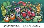 sweets  berries  fruits  drinks ...   Shutterstock .eps vector #1427180219